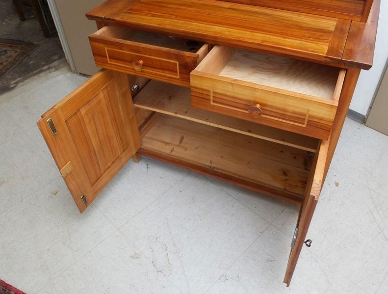 Kirschbaum kommode schreibpult regal 1950er jahre ebay for Kommode zum sitzen